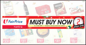 Fairprice 2-Days Specials: Kinder Bueno, Tesco Variety Biscuits, Buy-2-Get-2-Free Darlie & more deals for 2-days only from 14 – 15 Dec 2019