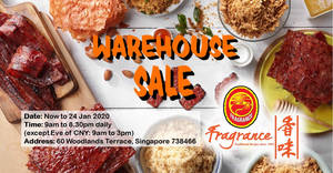 Featured image for Fragrance CNY 2020 Warehouse Sale Has 1-For-1 Offers & More (30th December 2019 – 24th January 2020)
