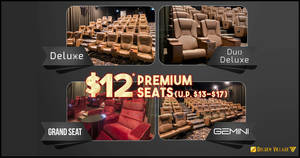 Golden Village will be offering $12 Premium Seats Movie Tickets (U.P. $13 – $17) from 9 – 12 Dec 2019