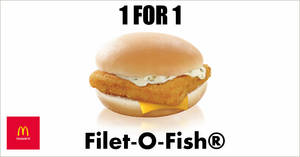 McDonald's will be offering 1-for-1 Filet-O-Fish® from 24 – 27 February 2020