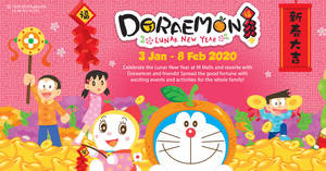 Featured image for Meet-and-Greet with Doraemon, Nobita and Shizuka at Jurong Point from 17 – 19 Jan 2020