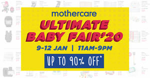 Featured image for Mothercare's Harbourfront Centre Baby Fair Has Discounts of Up To 90% Off (9 to 12 Jan 2020)