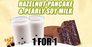 Mr Bean: 1-for-1 set of Hazelnut Pancake + Pearly Soy Milk deal from 15 February 2020