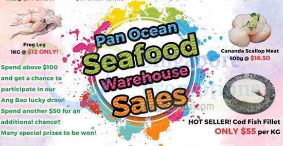 Featured image for Pan Ocean seafood warehouse sale from 21 Dec 2019 - 23 Jan 2020