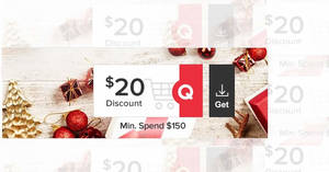 Qoo10: Grab free $20 cart coupons (usable with min spend $150) valid till 28 May 2020