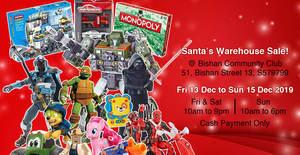 Santa's Warehouse Sale is back from 13 – 15 December 2019