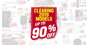 Singapore Expo Fair Will Be Clearing 2019 Electronics Models at Up To 90% Off from 6 to 8 December 2019