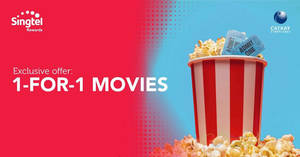 Featured image for Singtel customers enjoy 1-for-1 movies every Saturday at all Cathay Cineplexes (From 6 Feb 2021)