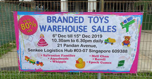 Branded toys warehouse sale features Sylvanian Families, Aquabeads, Whipple & more at up to 80% off from 6 – 15 Dec 2019