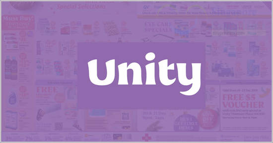 Featured image for Unity: Save 30% off on participating personal care brands till 14 Apr 2021