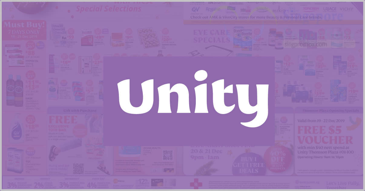 Featured image for Unity: Save 30% off on participating health supplement brands till 25 Aug 2021