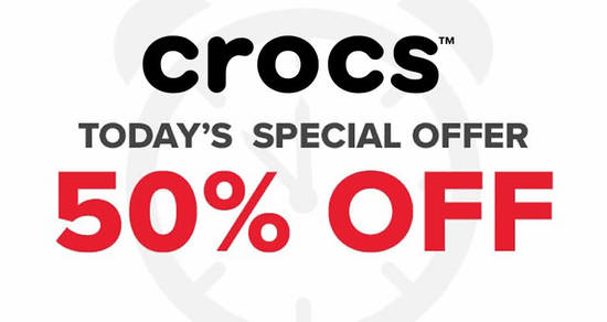 Featured image for 72hr FLASH SALE: Crocs 50% OFF on selected styles till Wednesday, 20 May 2020