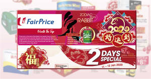 Fairprice 2-Days Specials: Ben & Jerry's at 3-for-$27.50, Ferrero Rocher, Golden Chef Australian Baby Abalone & more from 11 – 12 Jan 2020