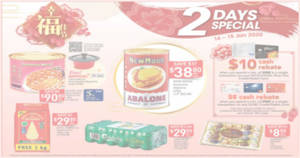 Fairprice 2-Days Specials: New Moon Australia Abalone, Ferrero Rocher Collection, Royal Umbrella & more from 14 – 15 Jan 2020