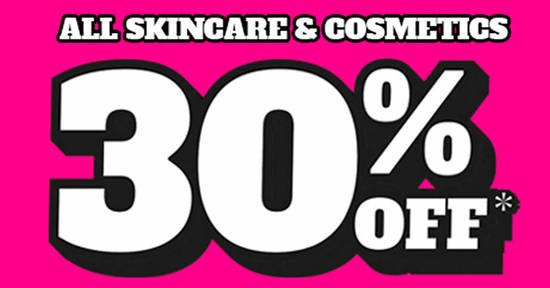 Featured image for Guardian: Save 30% off ALL skincare and cosmetics products till 20 January 2020