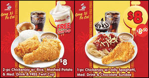 Enjoy big meals for as low as $8 with Jollibee Singapore's latest e-coupons (24 Jan – 14 Feb 2020)