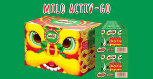 $19.99 MILO® UHT Ready To Drink (CNY Special Lion Head Packing) Carton Deal (From 21 Jan 2020)