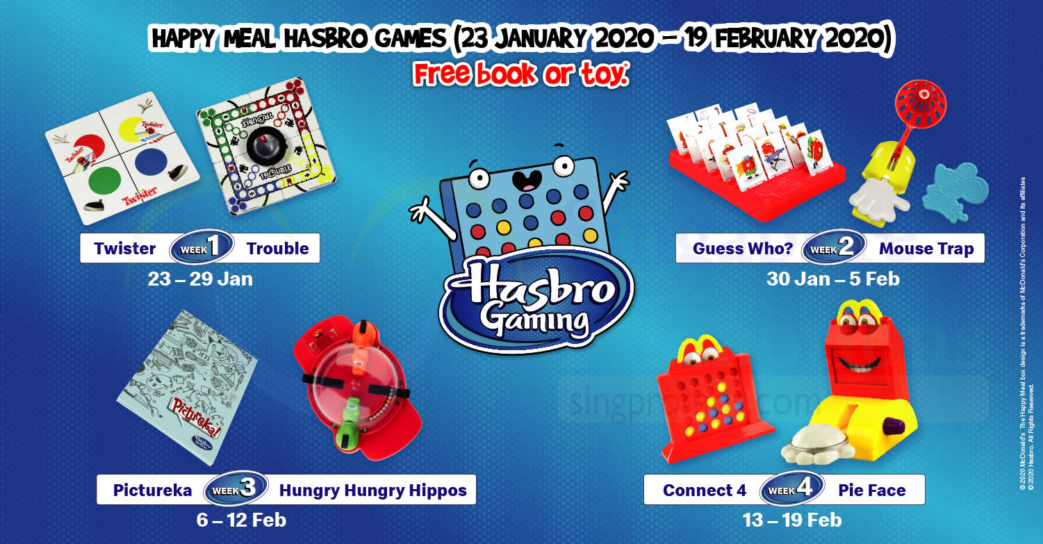 Mcdonald S Latest Happy Meal Toys Features Hasbro Games Till 19 February 2020