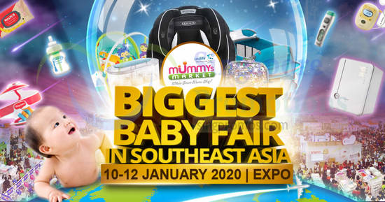 Featured image for Mummys Market Baby Fair 2020 at Singapore Expo from 10 - 12 Jan 2020