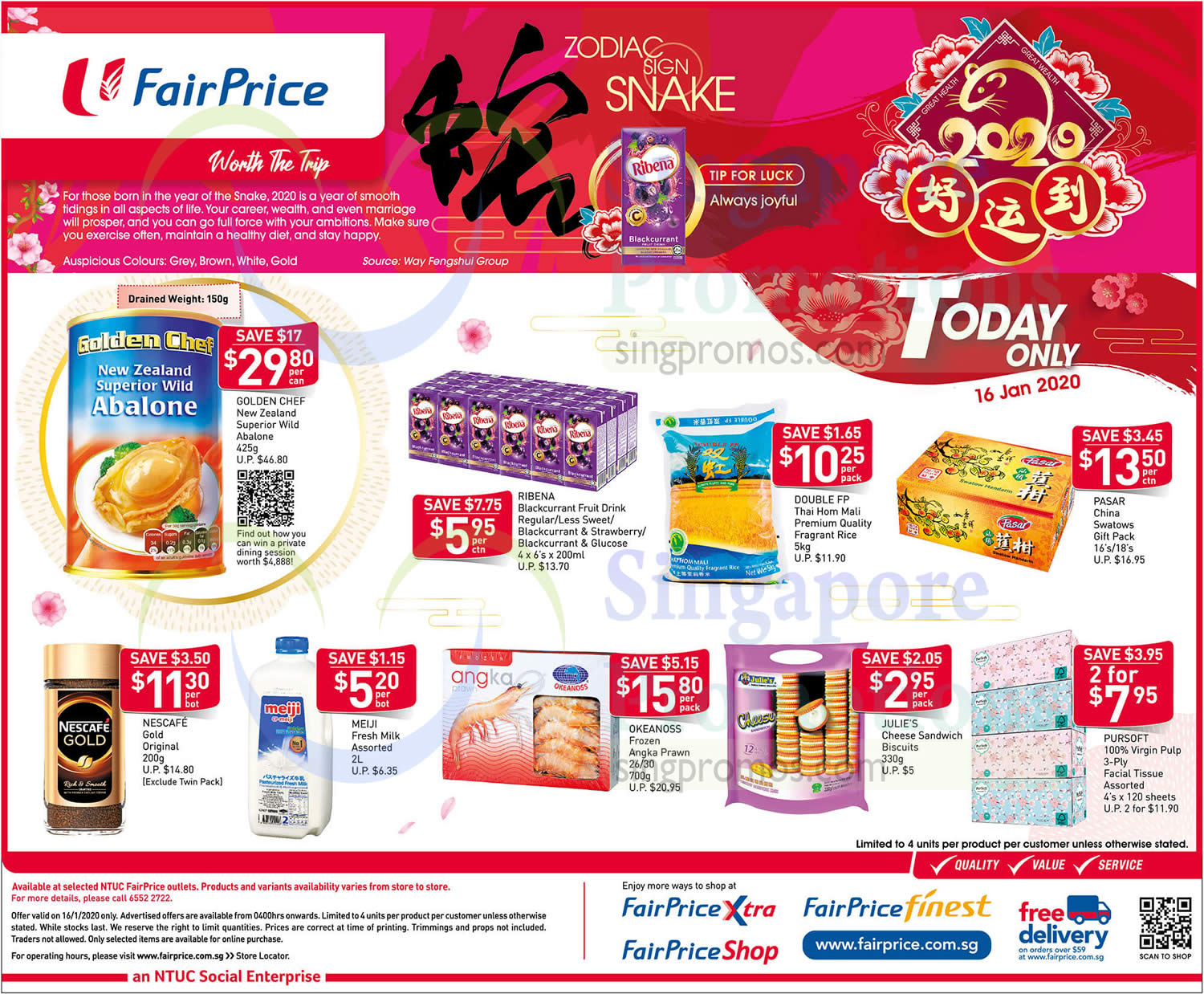 NTUC Fairprice 1-day deals valid on 16 January 2020 ...