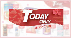 NTUC Fairprice 1-day deals valid on 16 January 2020 (Golden Chef New Zealand Abalone, Frozen Angka Prawn & More)