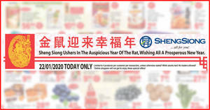 Sheng Siong ONE-day deals on 22 Jan: Happy Family Australia Wild Abalone, 61% off Ribena, 44% off F&N Variety Pack & More