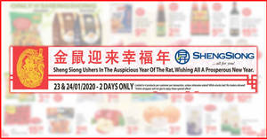 Sheng Siong TWO-day deals on 23 – 24 Jan: Frozen XL Japanese Scallops at 47% off, Jean Fresh Frozen Boiled Scallop Meat & More