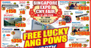Featured image for Singapore CNY Expo 2020 from 10 -12 January 2020