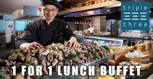 Triple Three: Enjoy 1-for-1 weekend lunch buffet with DBS/POSB cards till 31 Mar 2021