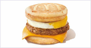 McDonald's Sausage McGriddles® with Egg will be going at $3 ala carte (U.P. from $5.40) with any purchase on Thursday, 20 Feb 2020