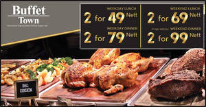 Buffet Town has buffets for two from $49 (nett) in its 9th anniversary promotion from 10 Feb to 22 March 2020