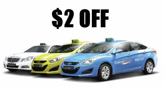 Featured image for ComfortDelGro $2 OFF taxi fares promo code for street hail trips from 3 August 2020