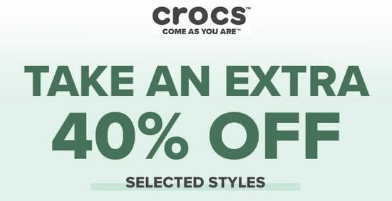 Featured image for Crocs: Extra 40% Off on selected sale items till 5 February 2020