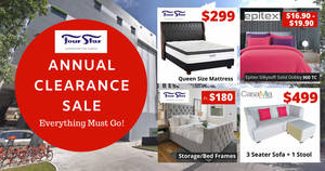 Four Star Mattress Annual Clearance Sale Has Queen Mattresses at $299 (21 – 23 February 2020)