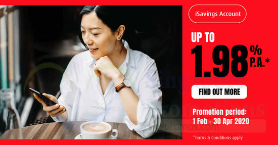 Featured image for HL Bank: Earn up to 1.98% p.a. on your daily iSavings Account balance till 30 April 2020