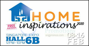 Featured image for Home Inspirations 2020 at Singapore EXPO from 8th Feb – 16th Feb 2020