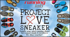 Donate your used running shoes at Running Lab outlets and receive a $50 shoe voucher (1 Mar – 30 Apr 2020)
