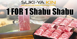 Suki-Ya Kin at Vivocity is offering 1-for-1 Shabu Shabu all-day (26 – 27 Feb '20)