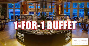 DBS/POSB cardholders enjoy 1-for-1 lunch/dinner buffet at Town Restaurant (The Fullerton Hotel Singapore) till 30 April '20 (Mon/Thu only)