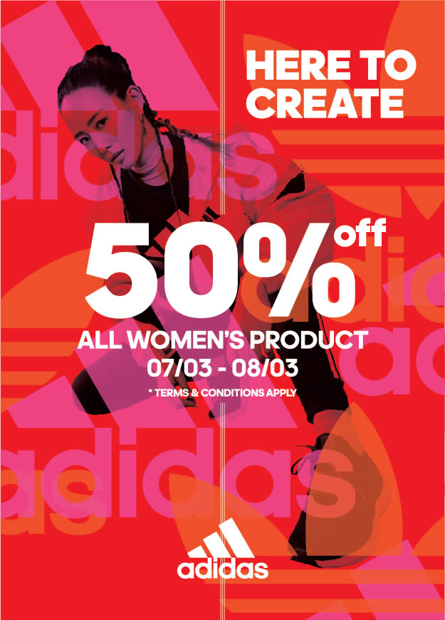 Adidas Is Throwing 50 Off All Women S Product In Celebration Of International Women S Day 7 8 March 20
