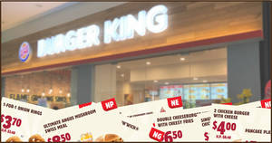 Burger King: Flash these digital coupons to enjoy awesome savings off BK meals and snacks till 26 April 2020