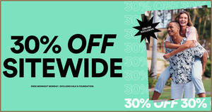 Cotton On: 30% OFF almost everything at online store from 8 April 2020