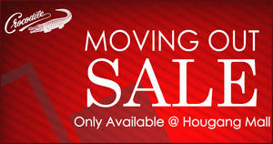 Featured image for Crocodile moving out sale at Hougang Mall till 26 March 2020