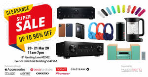 Featured image for Hwee Seng: Up to 90% off audio and branded appliances warehouse sale from 20 – 21 March 2020