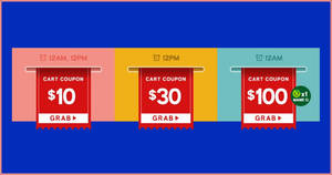 Qoo10: Super Sale! Grab $10, $30 & $100 cart coupons daily (26 – 29 March)