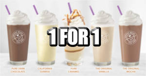 SAFRA Members enjoy 1-for-1 selected Coffee Bean Ice Blended drinks till 31 March 2020