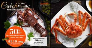JUMBO Group of Restaurants is offering up to 50% live seafood promotions till 30 April 2020