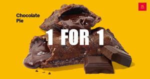 McDonald's is offering 1-for-1 Chocolate Pie till 15 April 2020