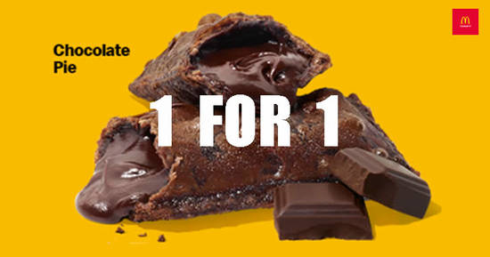Featured image for McDonald's is offering 1-for-1 Chocolate Pie till 15 April 2020