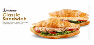 Delifrance: $5.30 (usual $7.20) Classic Sandwich Croissant with Egg /Chicken /Tuna or Seafood deal (From 15 May 2020)